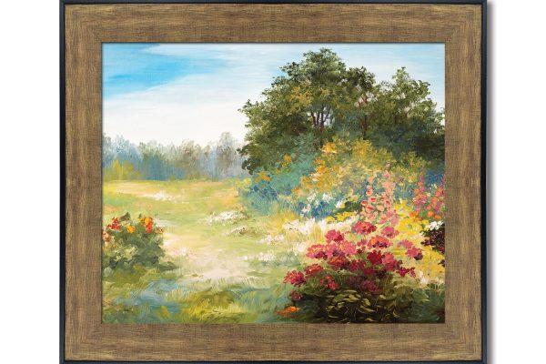 framed artwork prints bronze frame
