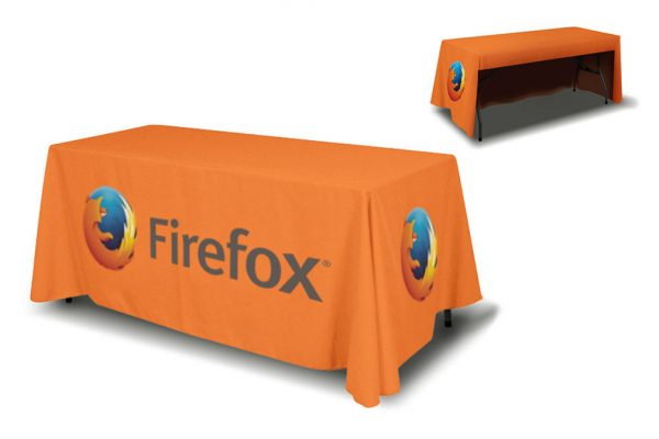 table cover for trade show displays