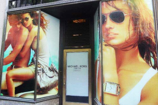 window displays and adhesive vinyl